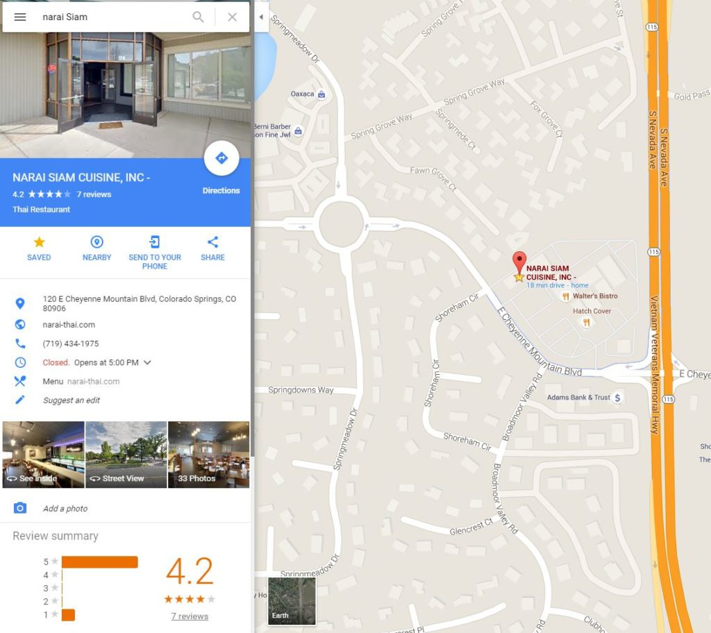 how does it work trusted colorado photographer using maps you might want to search for a business such as a restaurant in your area restaurants that are listed on on google business listing will show